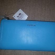 Coach All Leather Wallet Robin Color Nwt Photo