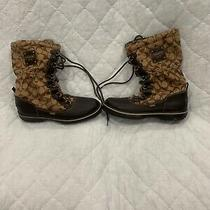 Coach All-Weather Womens Boots Size Size 8 Us Brown Fleece Lined Good Condition Photo