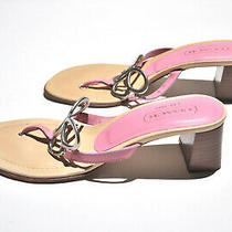 Coach Amara P455 Pink Leather Butterfly Slip-on Thong Sandal Size 6b Italy  Photo