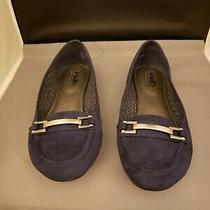 Coach and Four Women's Size 8.5 Blue Velvet Flats Shoes Photo