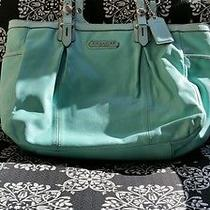 Coach Aqua Gallery Tote Photo
