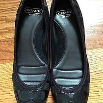 Coach Aria Suede Slip on Ballet Flats Size 7 Photo