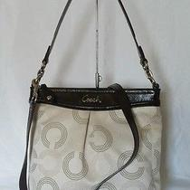 Coach Ashley Dotted Op Art Hippie Crossbody Shoulder Bag Handbag Mahogany F20088 Photo