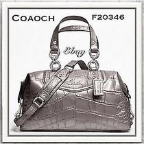 Coach Ashley Embossed Croc Satchel  Stylef20346  Photo
