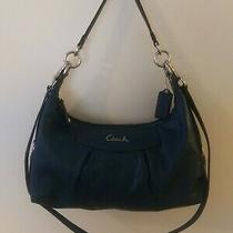Coach Ashley F19761 Blue Teal Leather Hobo Shoulder Bag Crossbody Purse Silver Photo