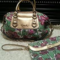 Coach Ashley Floral Satchel Photo