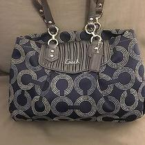 Coach Ashley Gathered Dotted Op Art Tote F20056 Photo