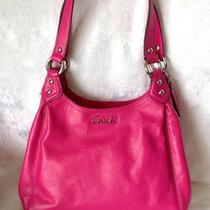Coach Ashley Leather Hobo Free Ship 21926 Fuscia Hot Pink Photo