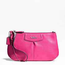 Coach Ashley Leather Large Wristlet Style F48103 Sv/fuchsia Photo