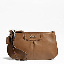 Coach Ashley Leather Large Wristlet Style F48103 Sv/saddle Photo