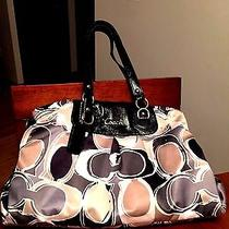 Coach Ashley Scarf Print Handbag Photo