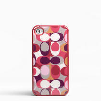 Coach Ashley Scarf Print Iphone 4 Case Style F64554 Multicolor Photo