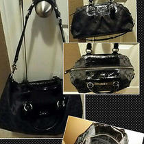 Coach Ashley Signature Black Satchel Photo