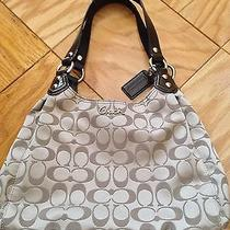 Coach Ashley Signature Khaki Mahogany Hobo Handbag Purse F21920 Photo