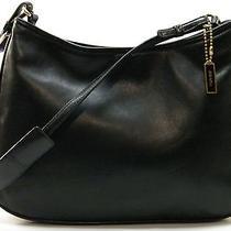 Coach Ashton Black Lamb Nappa Glove Leather Hobo Purse Shoulder Bag Handbag 8165 Photo