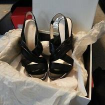 Coach Astor Strappy Sandals Women's 8 Black Soft Leather High Heel Shoes Photo