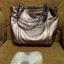 Coach Audrey Gunmetal Tote Photo
