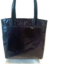 Coach Audrey Navy Patent Leather Slim Tote  Nwt Rare  17029  Photo