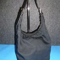 Coach Authentic Black Microfiber Hobo / Shoulder Bag Photo