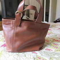 Coach Authentic Brown Leather Purse Shoulder Bag  E8z-4133  Photo