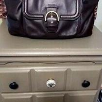 Coach Authentic Campbell Belle Dark Brown Leather Purse/tote Nwot Photo