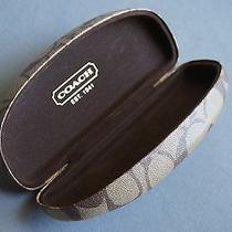 Coach Authentic Designer Hard Clamshell Sunglasses Case Photo