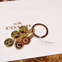 Coach Authentic Gold Rhinestone Signature Key Ring Clain Pretty  68 Dazzling Photo