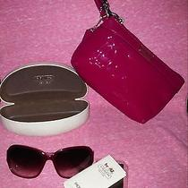 Coach Authentic Lot Sunglasses Case Wristlet Pink Photo