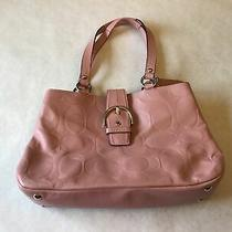 Coach Authentic Pink Leather Handbag Purse F19448 With Dust Cover Photo