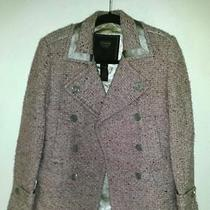 Coach Authentic Pink Speckled Wool W/satin Jacket Size 2 Photo