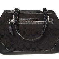 Coach Authentic Tote Bag Black Brown Designer Purse Photo