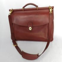 Coach Authentic Vintage 5266 Burgundy Glove Tanned Cowhide Leather Briefcase Photo