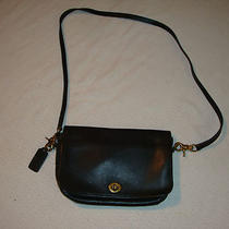 Coach Authentic Vintage Black Leather Purse Handbag Tote Crossbody Satchel Photo