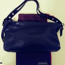 Coach Authentic Vintage Small Black Leather Shoulder Bag Excellent Condition Photo