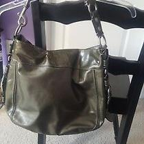 Coach Authentic Zoe Patent Leather Hobo Handbag in Olive Green Photo