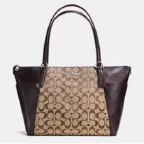 Coach Ava Ii Tote Outline Signature in Khaki Mahogany F54797 Nwt- Free Shipping Photo