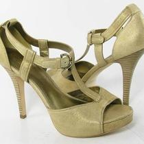 Coach Avery Heels Metallic Womens Size 9 B New 198 Photo