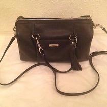 Coach Avery Satchel Leather Convertible Handbag Crossbody Coach 26121 Black Photo