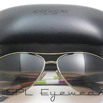 Coach Aviator Sunglasses Hc7003 Kristina 9013/13 Gold Tortoise Brown Gradient Hc Photo