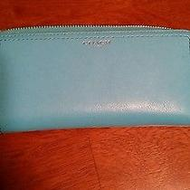 Coach Baby Blue Tiffany Blue Continental Wallet Photo