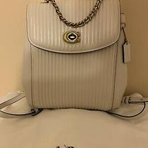 Coach Backpack Leather New Ivory Photo