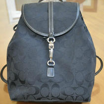 Coach Backpack Signature Black Photo