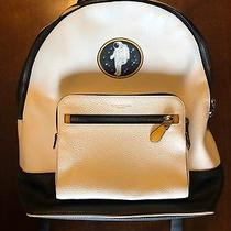 Coach Backpack X Nasa Print Motif Limited Edition White Pebbled Leather F29039 Photo
