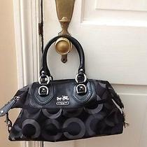 Coach Bag- Black Opt Art Pattern Photo