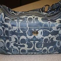 Coach Bag - Blue - Trimmed With Blue Suede Photo