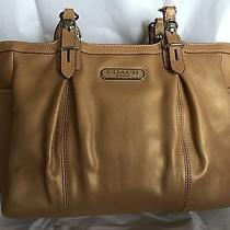 Coach Bag in Shiny Golden Beige- Brand New Photo