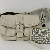 Coach Bag No F05s-3653 Women's Handbag W/coin Purse White/ivory Shoulder Leather Photo