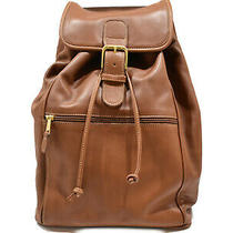 Coach Bag Pack 529 Brown Leather Bag Backpack Simple Trip Outing Ladies (577 Photo