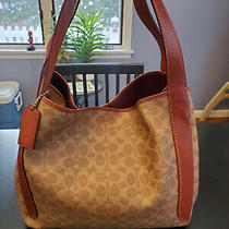 Coach Bag Purse - Hadley Hobo Tan/rust/brass Full Size 13 X 11.5 X 6.5 In. - New Photo