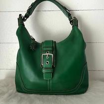 Coach Bag/purse Hamilton Leather Green Hobo Bag. Excellent Condition.   Photo
